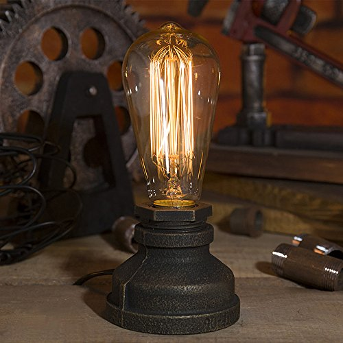 Kiven Steampunk Table Lamp Ul Certification Button Switch Cord