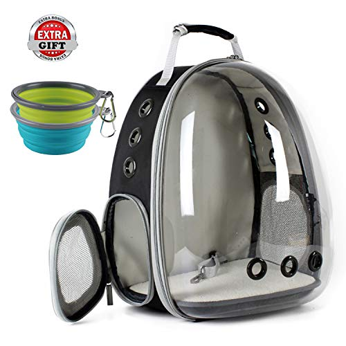 Cat Carrying Carrier Backpack, Space Capsule Bubble Pet Carrier Backpack for Small Dog, Transparent Waterproof Cat Hiking Travelling Backpack, Airline Approved 1