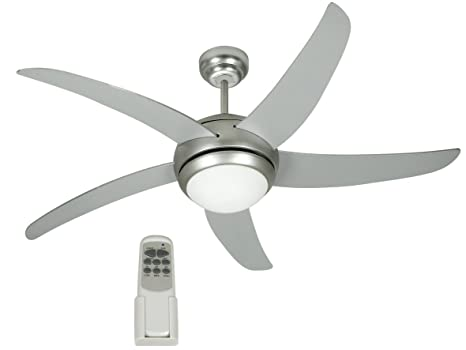 Johnson Miami Ventilatore A Soffitto Muro 5 Pale Con Luce Telecomando