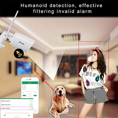 513OSWaArEL Xmate Zoom 2MP Outdoor Waterproof Wireless Security Camera | Motion Detection | Night Vision | Supports Micro SD Card up to 128 GB | Optional Cloud Storage