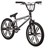 Mongoose Legion Mag Freestyle BMX Bike Featuring Hi-Ten Steel Frame and 40x16T BMX Gearing with 20-Inch Mag Wheels, Silver