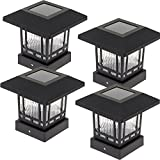 Westinghouse  Solar 20 Lumens 4x4 Post Light for Wood Posts (Black, 4 Pack)