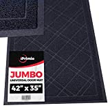 SlipToGrip - Universal Jumbo Door Mat with DuraLoop - XL Indoor/Outdoor 42'x35' Outdoor Indoor Entrance Doormat - Waterproof - Low Profile Door Mat - Welcome - Front Door, Garage, Patio - Phthalate