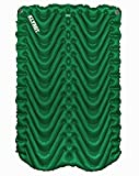 Klymit Double V (2018 Model) - Two Person Inflatable Sleeping Pad for Hiking, Camping, and Backpacking - Forest Green