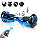 EPCTEK 6.5' Hoverboard - UL2272 Certified Self Balancing Hover Board w/Bluetooth Speakers, LED Light