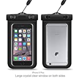 MUCHMO Black Waterproof Phone Case Cellphone Dry Bag For Apple iPhone 7,7Plus,6S 6, 6S Plus, 5S 5, Samsung Galaxy S6,Note 5 4 HTC LG Sony Nokia Motorola And Other Smart phones Up To 6.0