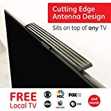 TV Antenna for top of Smart TV, Digital TV Indoor Amplified HDTV Antenna, Digital HDTV Antenna Long Range with Amplified Signal Booster - 10 Feet Coax Cable with Adapter, 37075