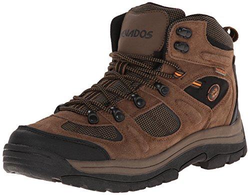 Nevados Men's Klondike MID Waterproof Hiker-M, Earth Brown/Black/Tigerlily Orange 11 M US