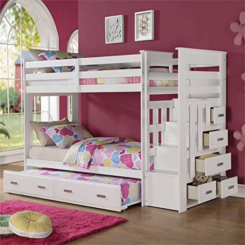 White Bunk Beds With Drawers Top Bunk Beds Review