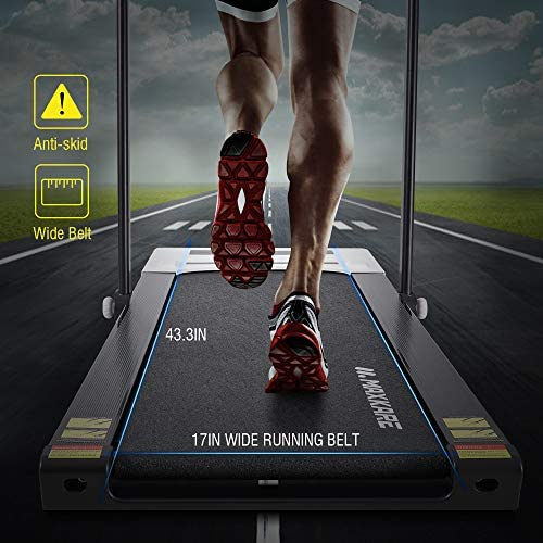 MaxKare Folding Treadmill 2 in 1 Running & Walking Treadmill Electric Treadmill Running Machine with 2.2HP Motor Remote Control & Large LCD Display for Home Office Use 4