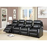 Product review for Elements International Cecille 4 Piece Home Theater Power Recliner Set