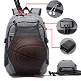 Laptop Sports Backpack, Durable Outdoor Travel Bag Basketball Backpack - Soccer Backpack with USB...