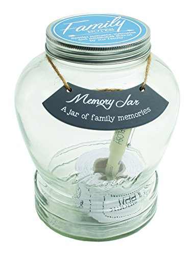 Top Shelf Family Memory Jar ; Unique and Thoughtful Gift Ideas for Mom and Dad ; Memorable Keepsakes ; Kit Comes with 180 Tickets and Decorative Lid