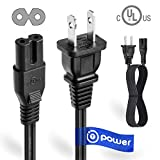 T POWER UL Listed 4FT 2 Prong Ac Lead Cable Cord Compatible with Haier Sony Insignia JVC Sharp TCL Toshiba Vizio Hisense Ultra HD Smart LED TV 26 28' 30' 32' 33' 40' 43' 49' 50' 55' 60' 65' LED Screen