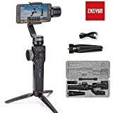 Zhiyun Smooth 4 Smartphone Stabilizer 3 Axis Handheld Gimbal Stabilizer for iphone x 8 7 6plus Samsung Galaxy S8 note 8 GoPro Support Object Tracking,Phonego Mode,Timelapse Expert,12 H Runtime