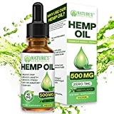 Organic Hemp Oil Extract Drops 500mg - Ultra Premium Pain Relief Anti-Inflammatory, Stress & Anxiety Relief, Joint Support, Sleep Aid, Omega Fatty Acids 3 6 9, Non-GMO Ultra-Pure CO2 Extracted