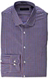 Tommy Hilfiger Men's Dress Shirts Non Iron Slim Fit Check, Rouge, 17' Neck 32'-33' Sleeve