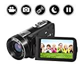 SEREE Video Camera Camcorder Full HD 1080p Digital Camera 24.0MP 18x Digital Zoom 3.0' LCD 270° Rotation Screen with Remote Control