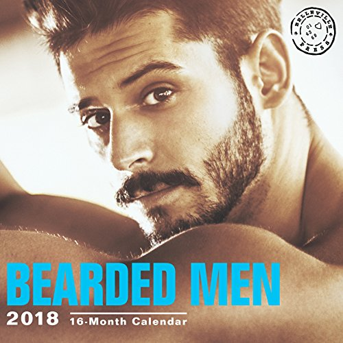 Bearded Men Hot Guys 12 x 12 inch Sexy Calendar, Belleville Press, 16 Month: September 2017 – December 2018
