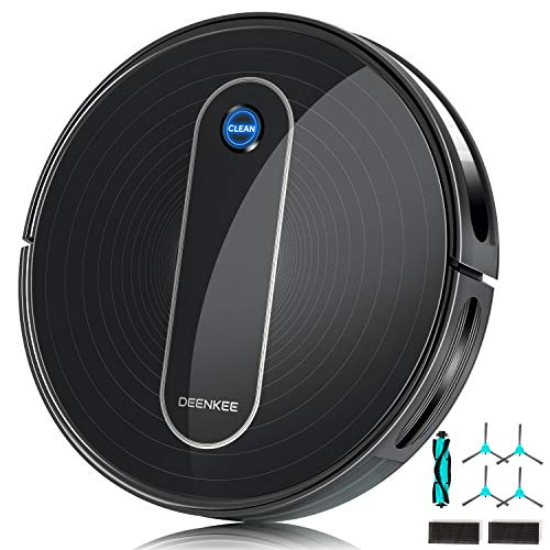 Deenkee-Robot-Vacuum-Cleaner-Upgraded-1500Pa-Suction-Quiet-Self-Charging-Super-Thin-Anti-Collision-Smart-Navigation-Robotic-Vacuum-with-Multiple-Cleaning-Modes-for-Pet-Hair-Carpets-Hard-Floors