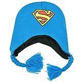 DC Comics Superman Man of Steel Peruvian Knit Beanie Laplander Hat Kids Hero