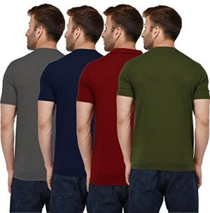 London Hills Men's Regular Fit T-Shirt (Pack of 4)