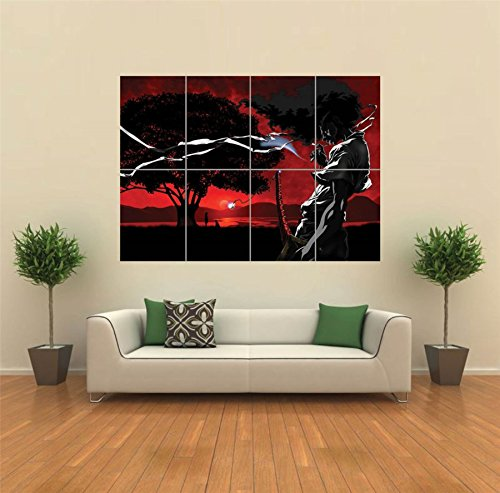 AFRO SAMURAI ANIME MANGA NEW GIANT POSTER WALL ART UNIQUE PRINT ...