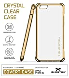 iPhone 6S Case, Ghostek Covert Series for Apple iPhone 6 & 6S Premium Impact Protective Armor Case Cover | Clear TPU | Explosion-Proof Screen Protector | Ultra Fit (Gold)