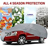 Motor Trend 4-Layer 4-Season Auto (Waterproof Outdoor UV Protection for Heavy Duty Use Full Car Cover for Vans, Suvs, Crossovers up to 185')