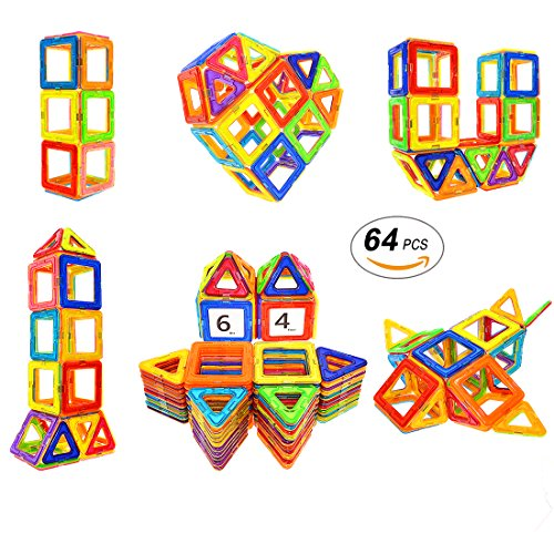 Magnetic Toys For Boys : Magnetic blocks stem educational toys magnet building