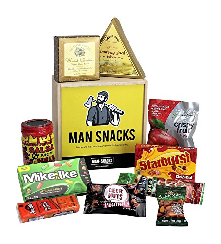 Man Snacks Manly Snacks Packed In A Manly Wooden Box It S A Gift Basket For Real Men Makes A Great Birthday Gift College Care Package Or Thank