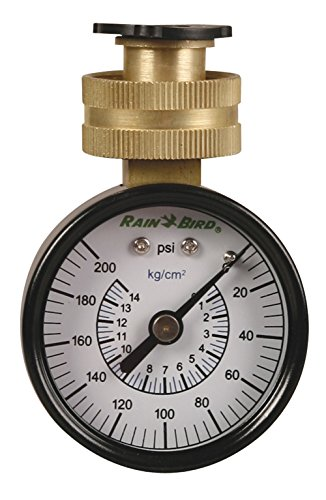 Rain Bird P2-A Water Pressure Test Gauge, 3/4' Female Hose Thread, 0-200 Psi