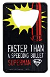 Superman Pop Art Stainless Steel Super Hero Credit Card Bottle Opener
