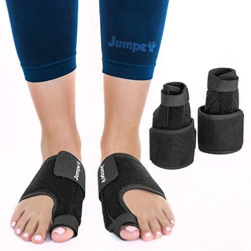 Jumpex Bunion Corrector and Bunion Relief | Orthopedic Big Toe Straightener for Women and Men | 100% Adjustable Bunion Splint | Treat & Prevent Hallux Valgus, Black