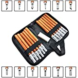 Wood Carving Tools, 14pcs Professional Carving Chisels Knife Kit for DIY Sculpture Carpenter Experts & Beginners, w/Protective Covers & Whetstone & Reusable Pouch.
