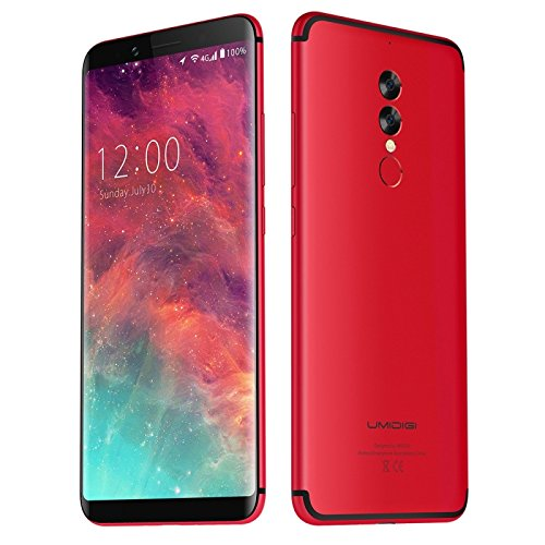 Generic UMIDIGI S2, 4GB+64GB, Dual Back Cameras, Fingerprint Identification, 5100mAh Battery, 6.0 inch Sharp Screen Android 6.0 Helio P20 Octa Core up to 2.3GHz, Network: 4G, Dual SIM, OTG(Red)