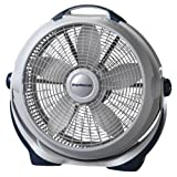 Lasko 3300 20″ Wind Machine Fan With 3 Energy-Efficient Speeds - Features Pivoting Head for Directional Air Flow