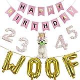 Legendog Dog Birthday Party Supplies, Dog Girl or Boy Birthday Party Decorations, Dog Birthday Hat, Happy Dog Birthday Party Decorations (Pink)