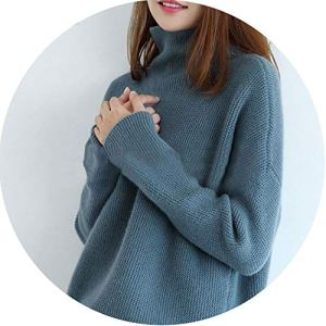 world-palm Casual Women Cashmere Sweater Turtleneck Long Sleeve Knitted Female Pullover Sweaters