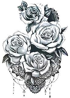 Rosen Tattoo Fake Tattoo Km187 Einmal Tattoo Wasserfest