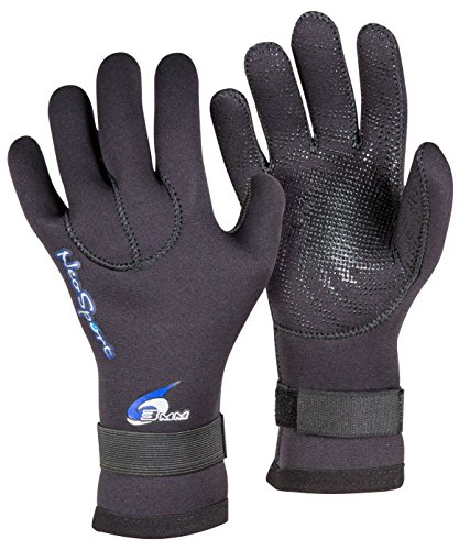 Neo Sport Wetsuits Premium Neoprene 3mm Five Finger Glove, Black, Large