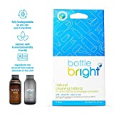 Bottle Bright (12 Tablets) - All Natural, Biodegradable, Chlorine & Odor Free Water Bottle & Hydration Pack Cleaning Tablets