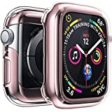 Penom Case for Apple Watch Screen Protector Series 3 2 1 38mm, Ultra Thin iWatch 38mm Screen Protector with Full Protection TPU Cover Rose Gold