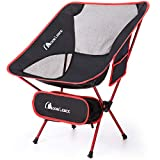 MOON LENCE Ultralight Camping Chairs Folddable Backpacking Beach Chairs with Carry Bag