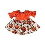 FIRERO Newborn Kids Baby Girl Thanksgiving Turkey Party Pageant Dress Sundress