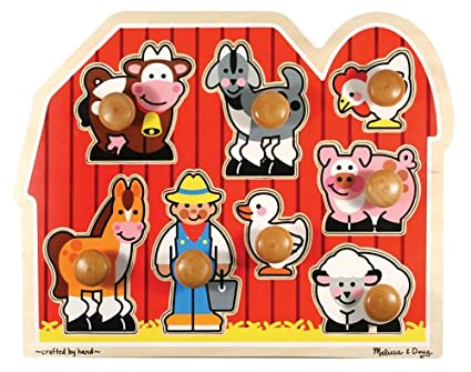 Farm Animals Jumbo Knob Wooden Puzzle
