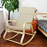 Product review for Haotian Wood Relaxing Rocking Chair,Gliders,Lounge Chair with Cotton Cushion, FST15-W