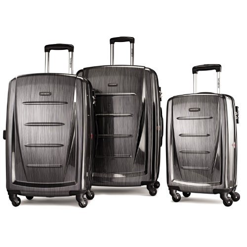 Samsonite Winfield 2 3PC Hardside (20/24/28) Luggage Set, Charcoal