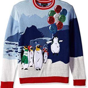 Blizzard Bay Men's Flight of The Penguin Ugly Christmas Sweater