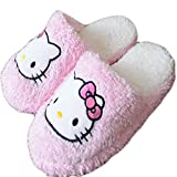 E.a@Market Women's Lovers Hello Kitty Household Slippers (EU(38-39), Pink)